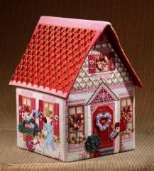 melissa shirley 3-d needlepoint valentine's house