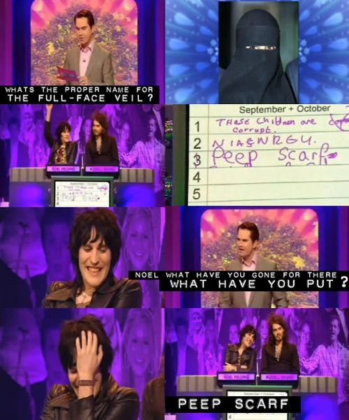 big fat quiz of the year, Noel and Russell!
