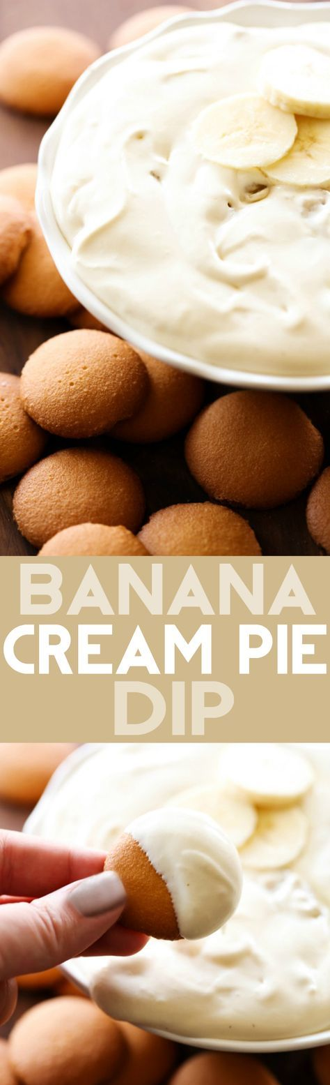 Banana Cream Pie Dip... This Banana Cream Pie Dip will be one of THE BEST recipes you ever have! It is creamy, smooth and just the right amount of banana! No one will be able to resist this dip!
