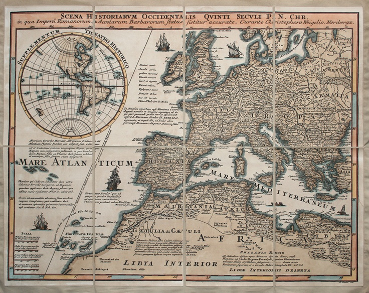 Map of Europe by Weigelio - Circa 1600