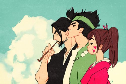 Hanzo, Genji, D.Va