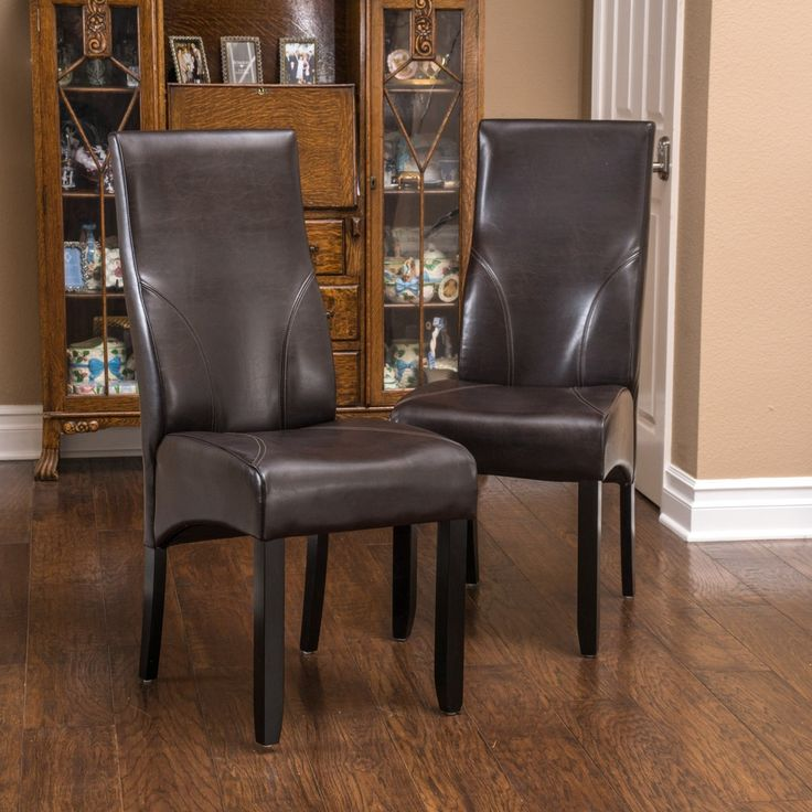 Christopher Knight Home Osborne Bonded Leather Dining Chairs Set Of 2