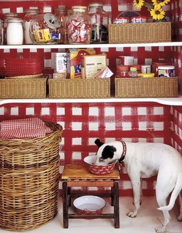 17 best images about gingham on pinterest plaid gingham for Country kitchen pantry ideas