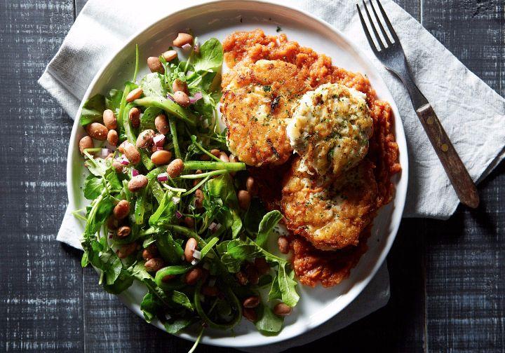 Tortitas de pescado y vegetales