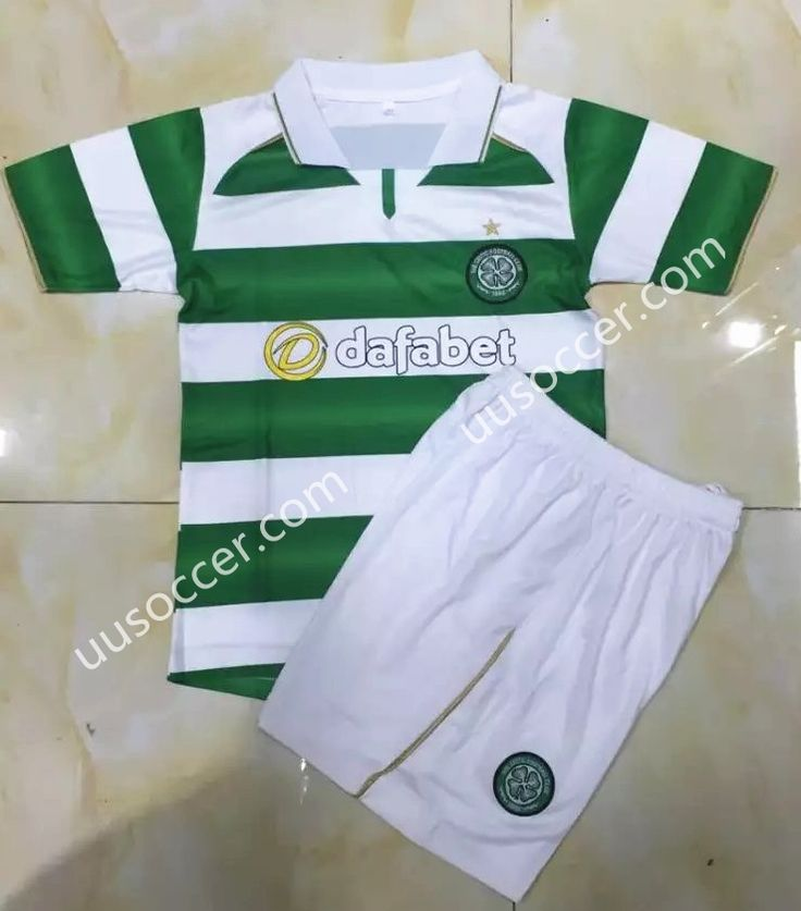 2016/17 Celtic Home White and Green Kids/Youth Soccer Uniform