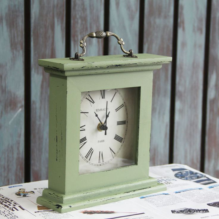 2016 rustic vintage mediterranean desk clock/ table clock/ unique desk lamps for wedding home room decoration
