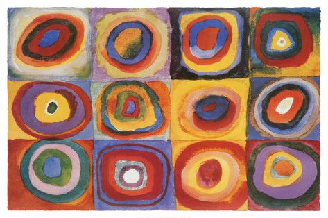 Farbstudie Quadrate by Wassily Kandinsky - c.1913 http://www.voteupimages.com/farbstudie-quadrate-by-wassily-kandinsky-c1913/