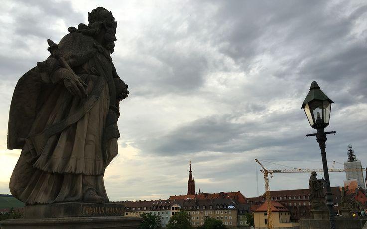 Statue on the bridge in Wurzburg