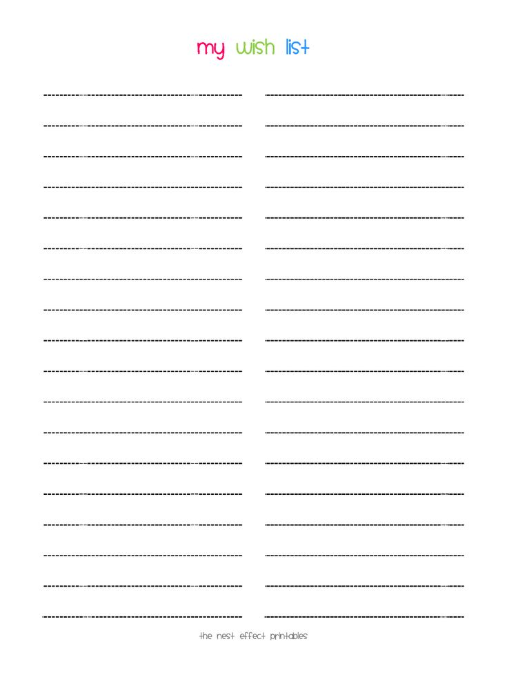 17 best Everyday Wish List images on Pinterest Planner ideas - free printable christmas list template