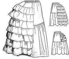 entre las prendas mas comunes se encontraban el vestido largo, los delantales, los corpinos, las faldas tipo CULOTTE y diversas clases de sombreros.