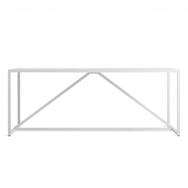 Strut Large White Outdoor Table
