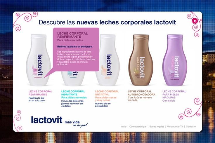Double Sensation Lactovit  Promotion website for the spanigh bodymilk Lactovit.  Agency: MRM Worldwide Barcelona