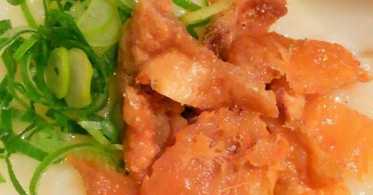 簡単!残りご飯で*カリカリ鶏皮の中華粥 by まこりんとペン子 【クックパッド】 簡単おいしいみんなのレシピが284万品