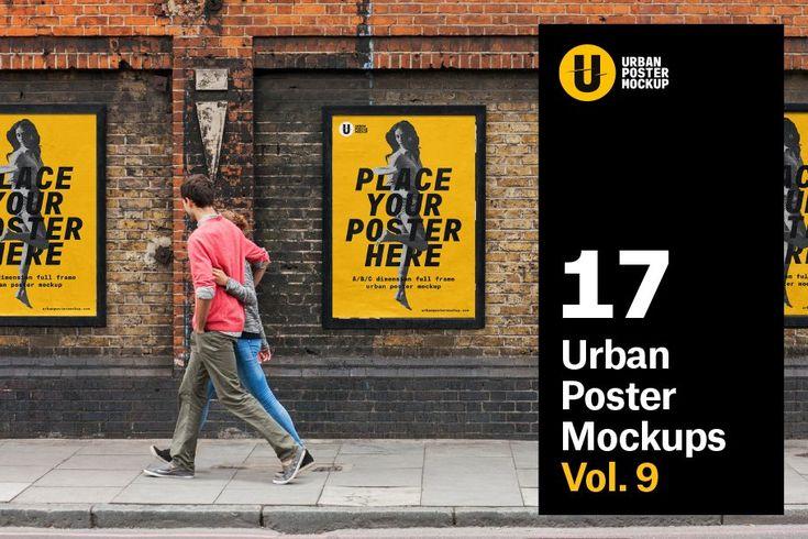 Urban Poster Mockup Vol 3 Poster Mockup Poster Mockup Psd Mockup