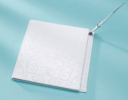 Something Blue - David Tutera - Bridal Collection - Flocked Swirl Guest Book, R388.00 (http://www.somethingblue.co.za/david-tutera-bridal-collection-flocked-swirl-guest-book/)