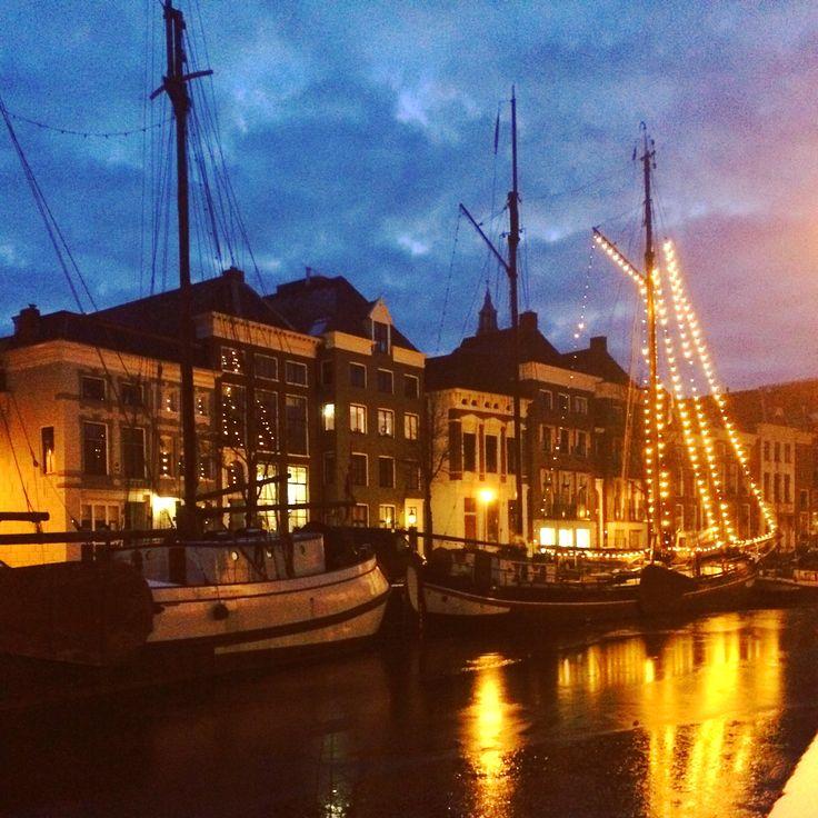 Hooge der A, Groningen at night