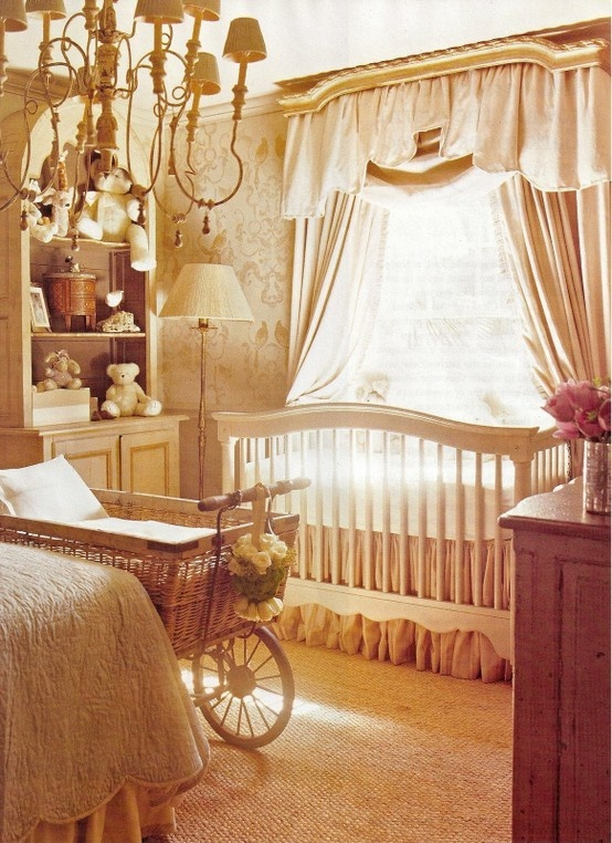 pale pink, elegant nursery Frm bd: My Future Job as a Mom