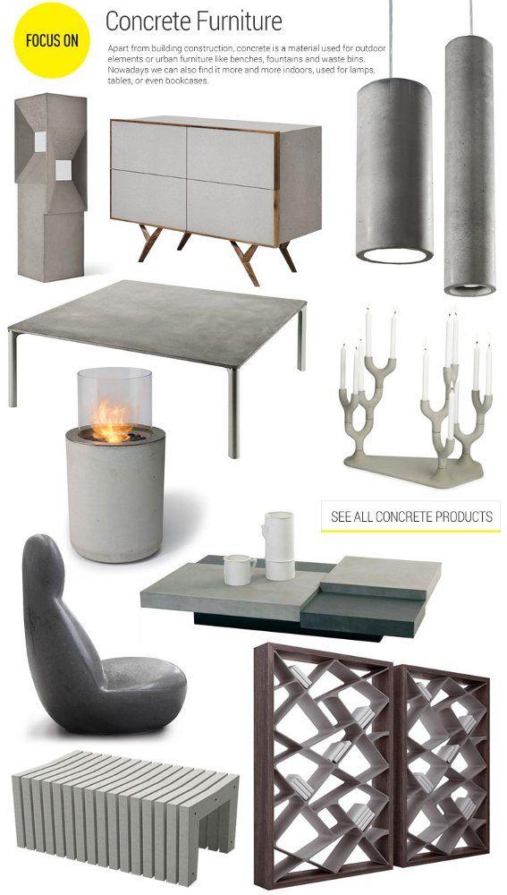 Best 25 concrete furniture ideas on pinterest concrete for Archiproducts shop