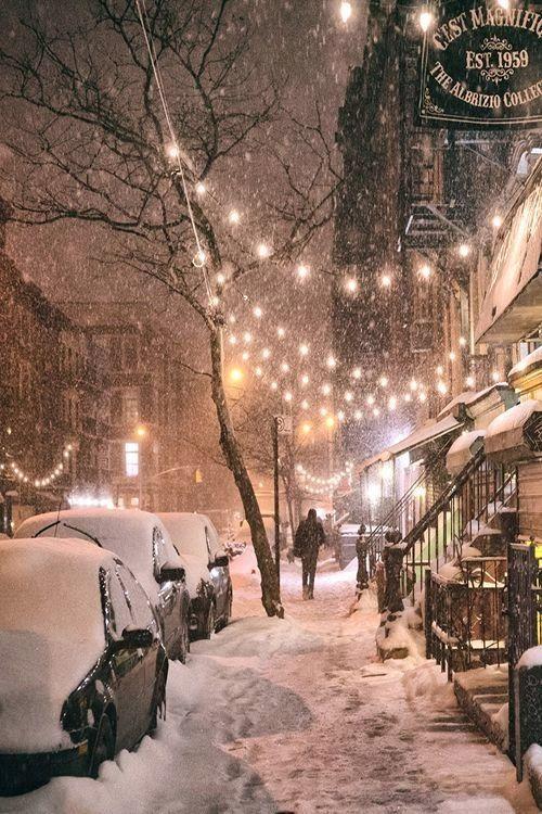 Nuit d'hiver, East 9th Street, East Village - Voilà ce que je souhaite pour le réveillon de Noël