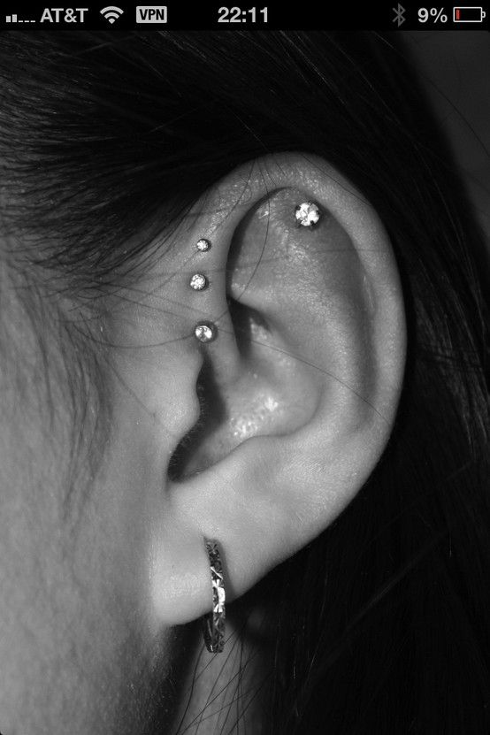 10 best piercings images on pinterest piercing ideas earring set and curls. Black Bedroom Furniture Sets. Home Design Ideas