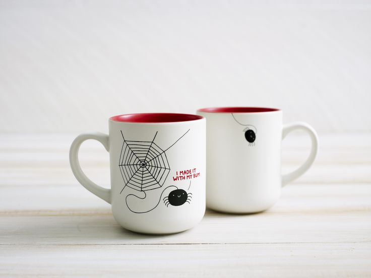 'I made it with my bum' mug by Gemma Correll - now avaialble at www.teapigs.co.uk
