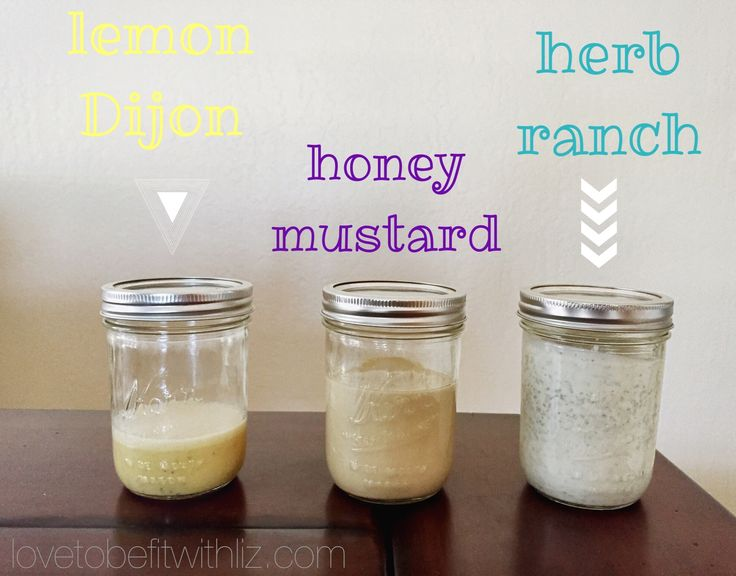 Homemade Salad Dressings without all the crap! Homemade Herb Ranch, Honey Mustard and Lemon Dijon, 2 of which are 21 Day Fix Approved! :)