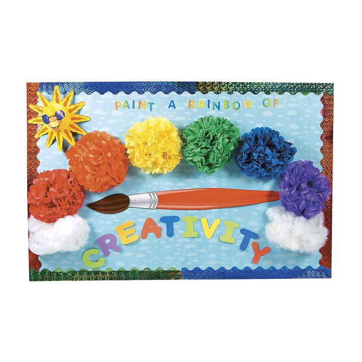 Rainbow Bulletin Board Idea - OrientalTrading.com