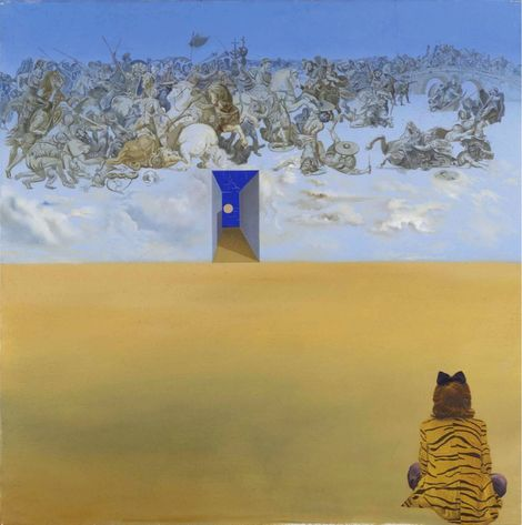 Salvador Dalí, Batalla en las nubes (Obra estereoscópica) - 1979 - MReina Sofia. on ArtStack #salvador-dali-1 #art