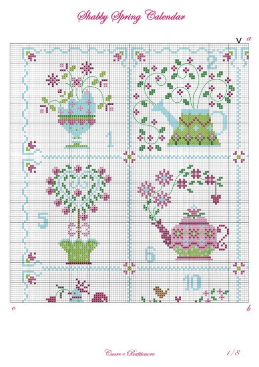 """Cuore e batticuore """"Shabby Spring Calendar"""""""