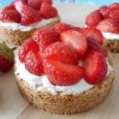 Aardbeien zandtaartjes / Taart & gebak / Recepten   Hetkeukentjevansyts.jouwweb.nl