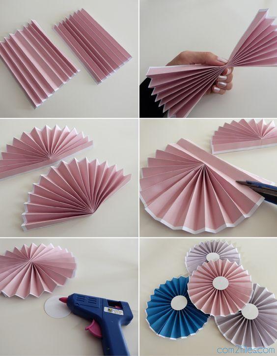 Diy le tuto des rosaces en papier niveau facile - Decoration en papier facile ...