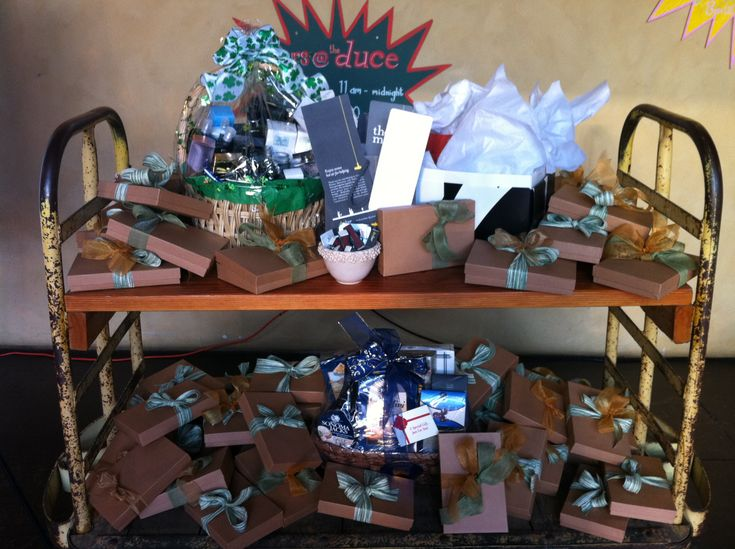 """Loved the mystery box concept at the fundraiser we did.  Each contained $125 worth of stuff but we sold for $100 with four boxes having """"grand prizes"""" worth lots more.  Exciting for people as they opened them and we sold out."""