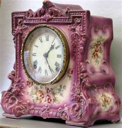 Antique Ansonia 8 Day Clock Pat Date 1882 Wicket Case With Floral ...