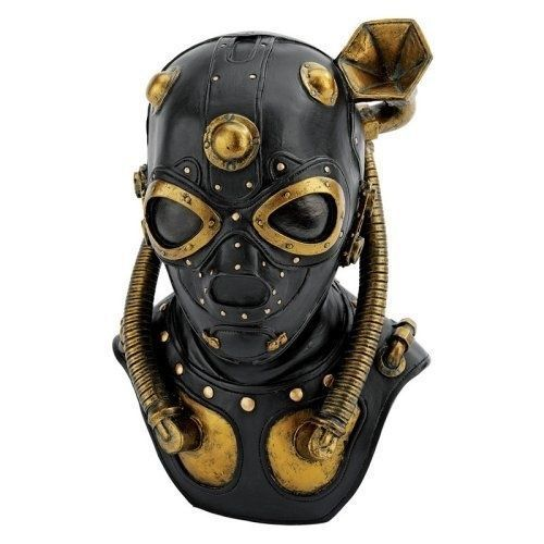 Design Toscano Steampunk Apocalypse Gas Mask Statue - 10H in.. Free Delivery