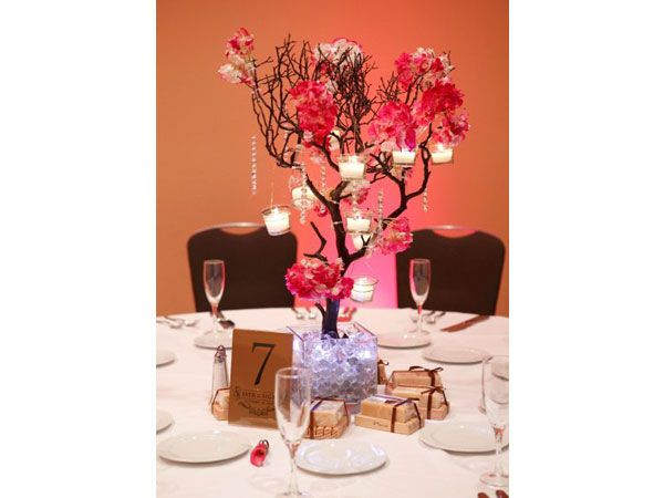 29 best wedding centerpieces images on pinterest wedding - Centros de mesa con velas ...