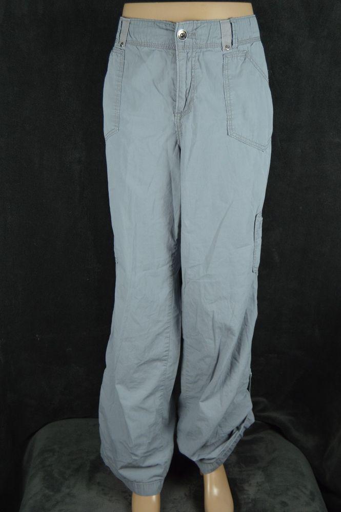 #Faded #Glory #Ladies #14Avg. #gray #cotton #cargo #pants #FadedGlory #Cargo