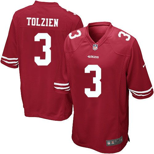 youth nike san francisco 49ers 3 scott tolzien limited red team color nfl jersey sale nfl youth nike