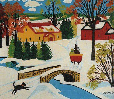 maud lewis - winter