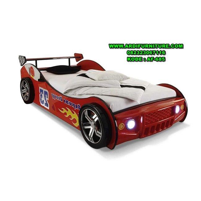 Desain Tempat Tidur Anak Karakter Mobil Balap Tempat Tidur Anak Karakter Mobil Balap Dipan Anak Karakter Mo Di 2021 Mobil Balap Tempat Tidur Anak Desain Tempat Tidur