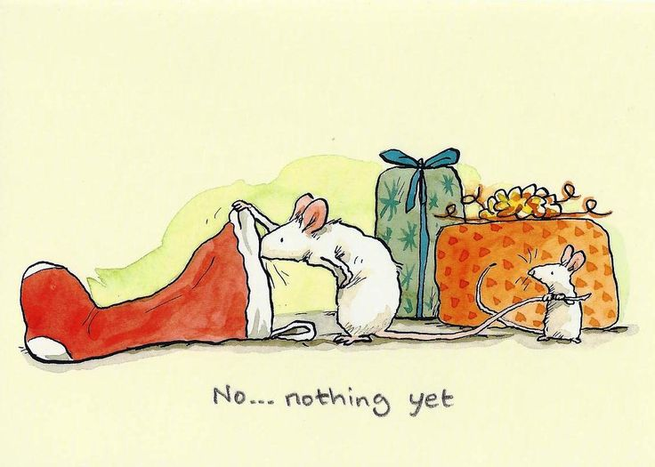 No... nothing yet by Anita Jeram -- Christmas Mice