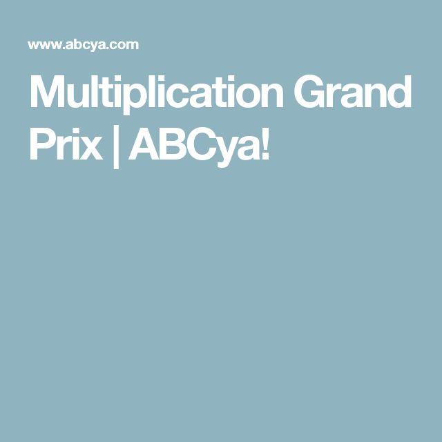 Multiplication Grand Prix   ABCya!