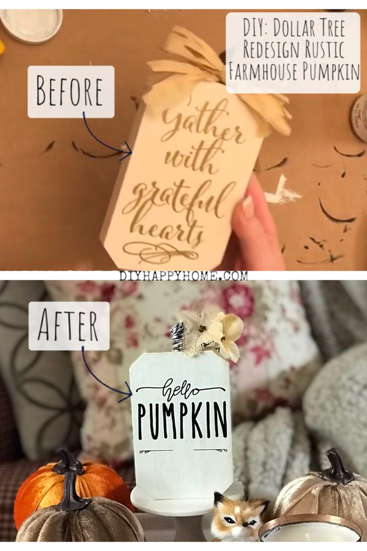 DIY: Dollar Tree Redesign Rustic Farmhouse Pumpkin