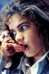 Heather Langenkamp. Nightmare on Elm Street. Ewwww! This part was awesome and gross at the same time!