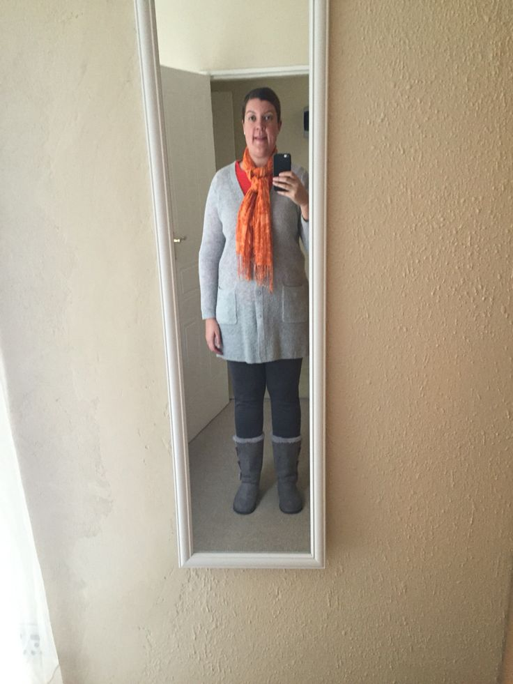 Grey with a touch of orange