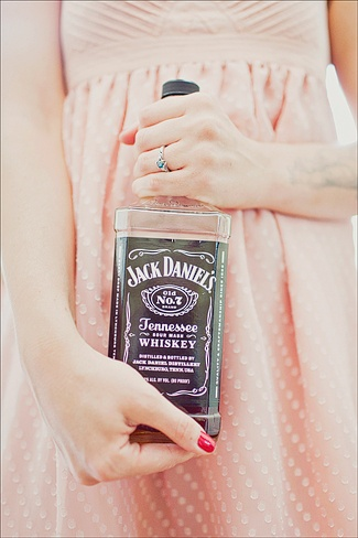 all the bridesmaids are going to have a picture with their favorite liquor before the bachelorette party. This is kinda fun