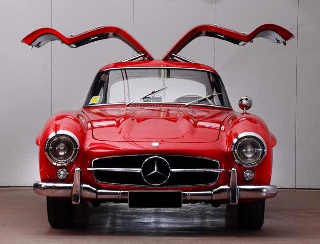 1955 Mercedes-Benz 300SL. Red Metal Angel.