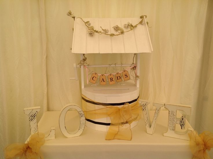 Make It Special Events     Lovely hand crafted wooden wishing well, locks with combination lock is available to hire from makeitspecialevents.co.uk