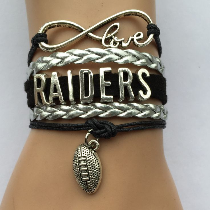 Прямая поставка бесконечность любви рейдовиков браслет заказ-нфл футбольная команда браслеты браслет спортивный колледж браслет подарок
