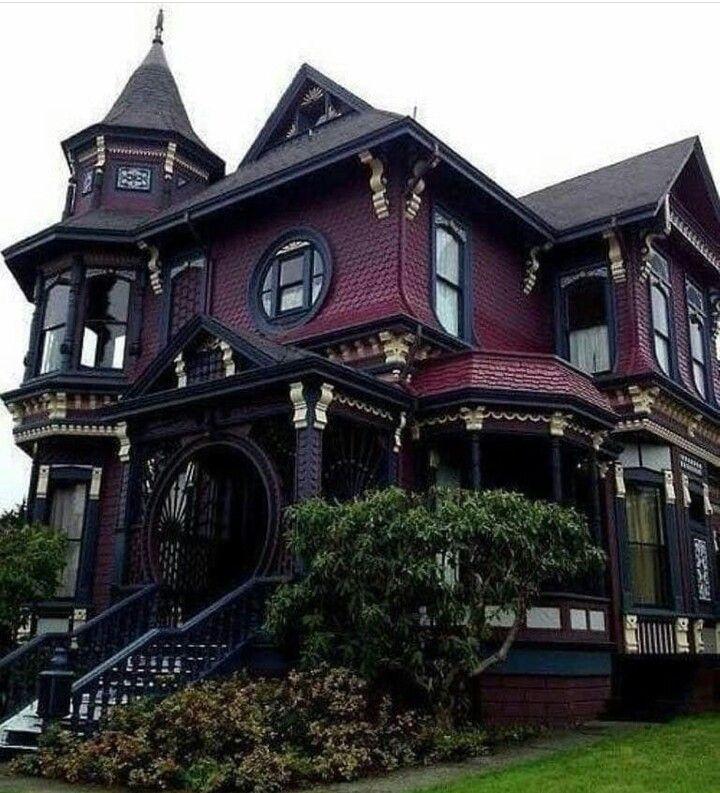 Casa Roja Casas Victorianas Antiguas Casas Victorianas Arquitectura Victoriana