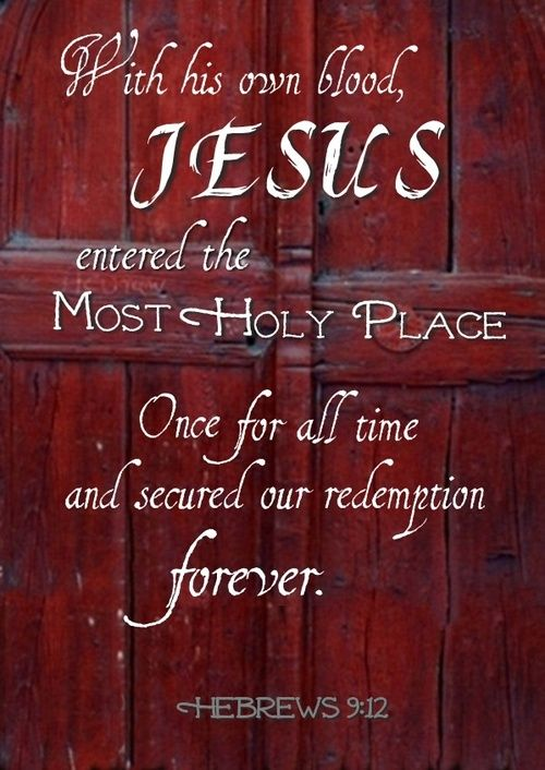 There is no other way into heaven, except through the Door of the sheepfold. Jesus! Thank you Lord for the blood!